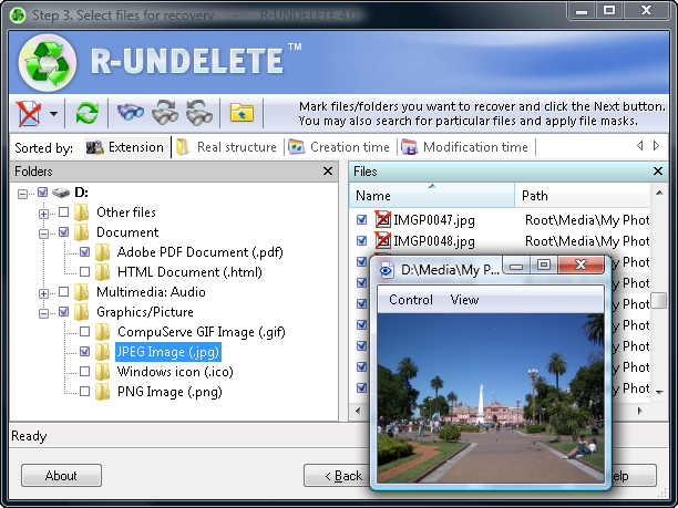 File Undelete and file recovery software for FAT & NTFS file systems.
