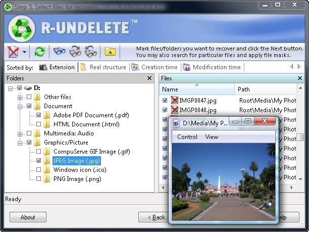 R-UNDELETE File Recovery screenshot